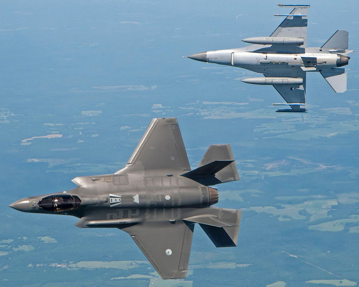 F35 vs F16 dogfight, F35 vs F16