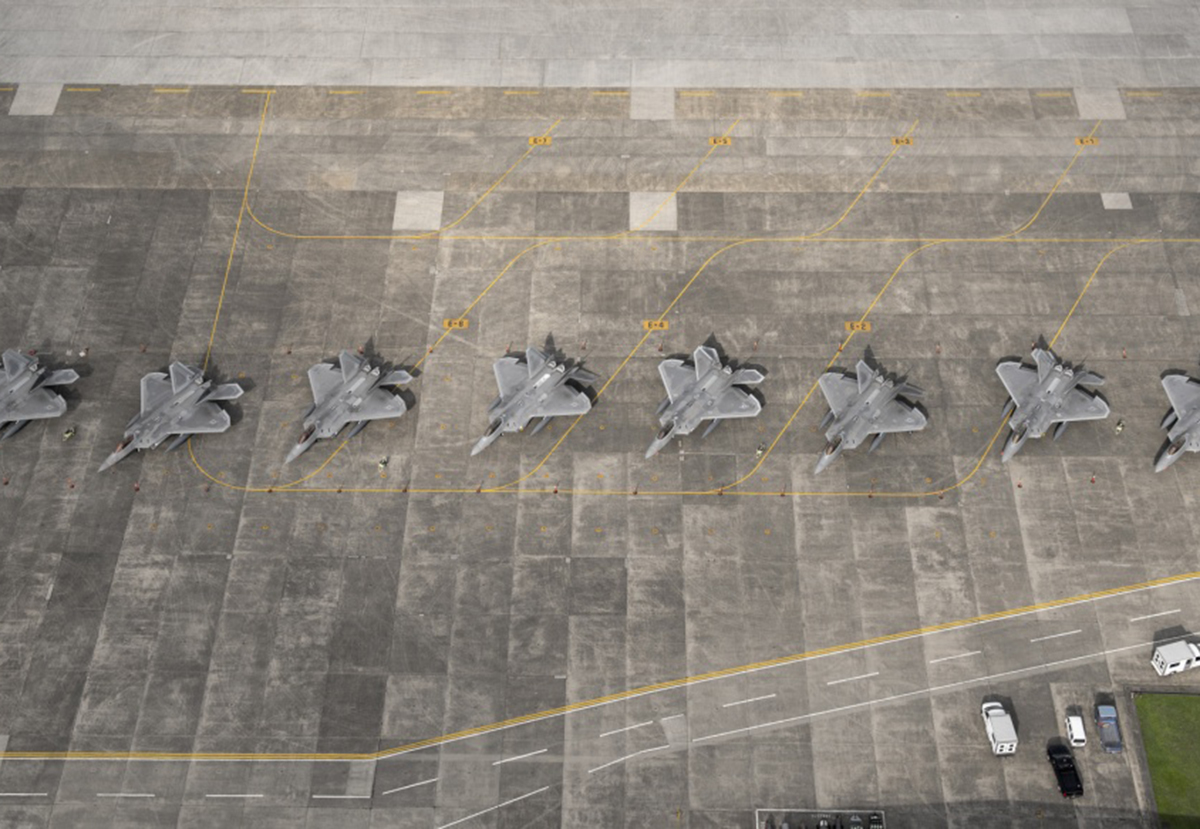 F-22 Raptors Joint Base Elmendorf-Richardson, Alaska.