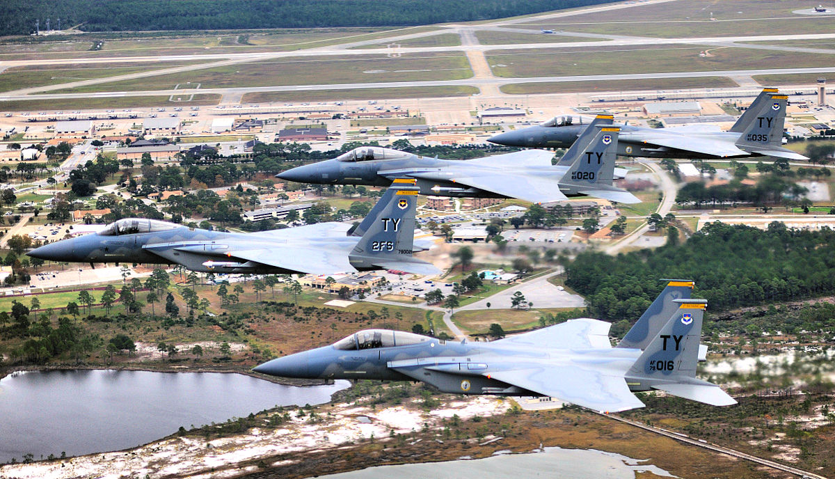F-16s over Tyndall AFB
