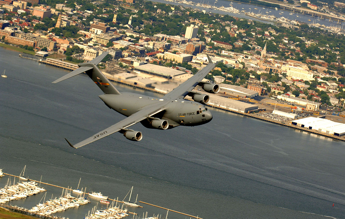 C-17 over JB Charleston
