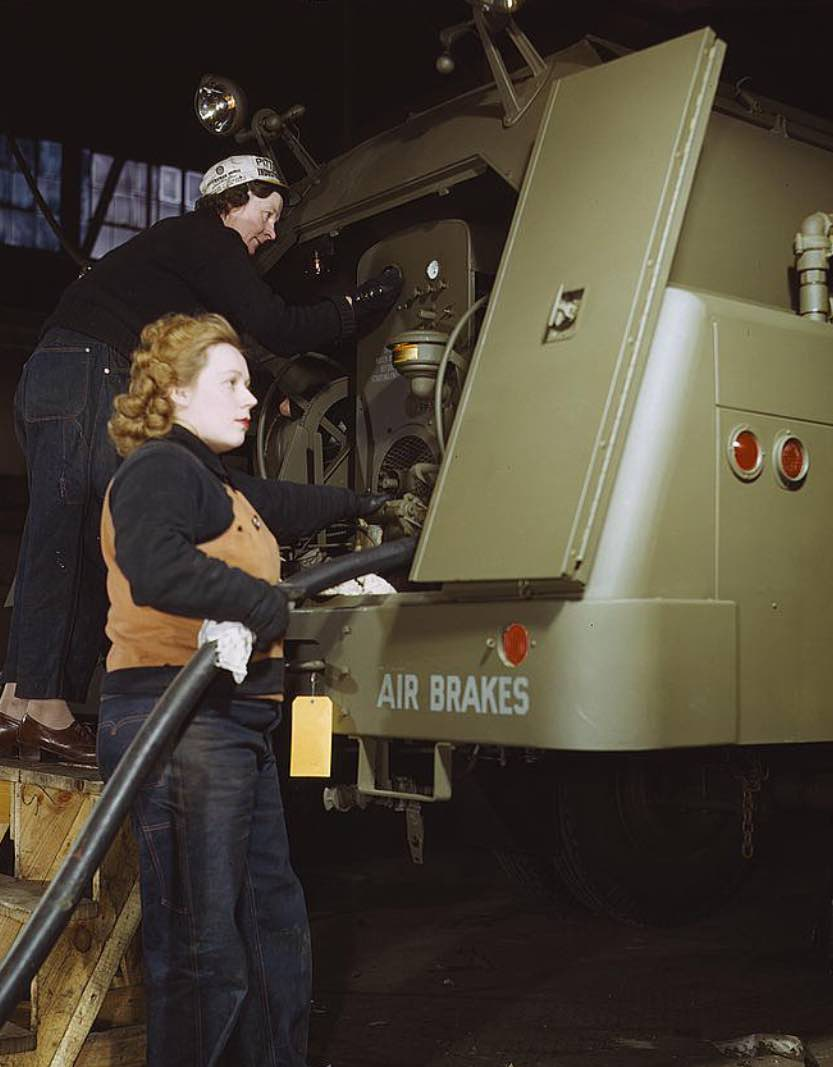 Agnes Cliemka, age 23 and Helen Ryan, age 41, WWII colorized photos