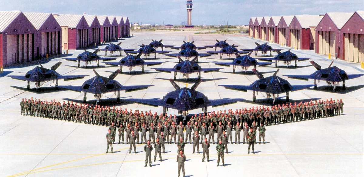 F-117s at Holloman AFB