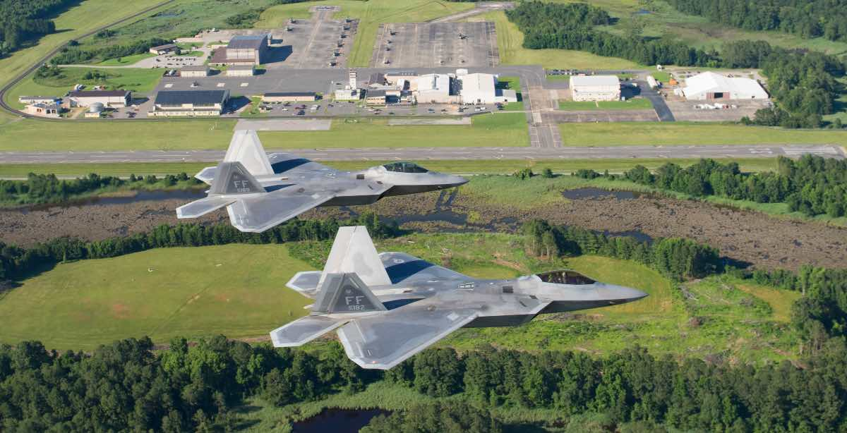 F-22 over JB Langley-Eustis