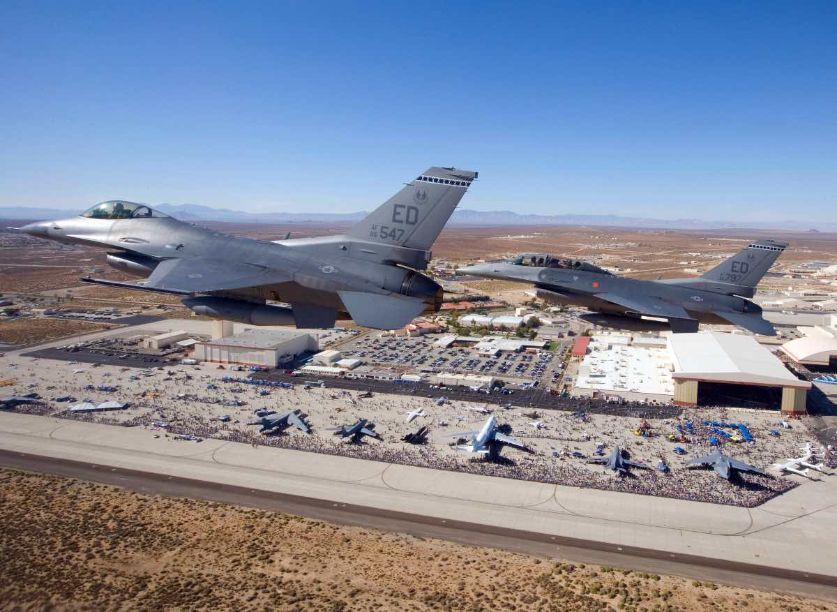 Fighters over Edwards AFB