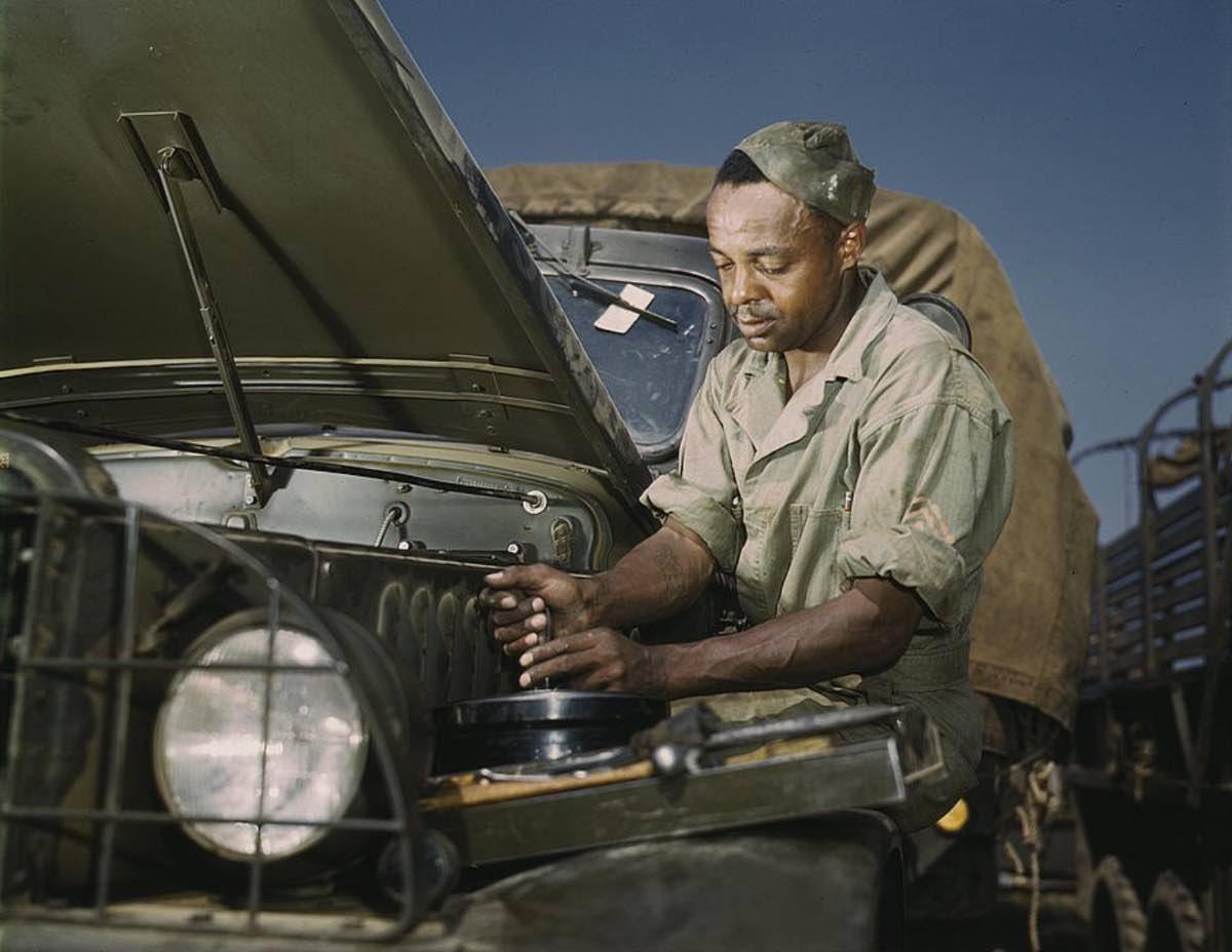 Motor maintenance mechanic in WWII