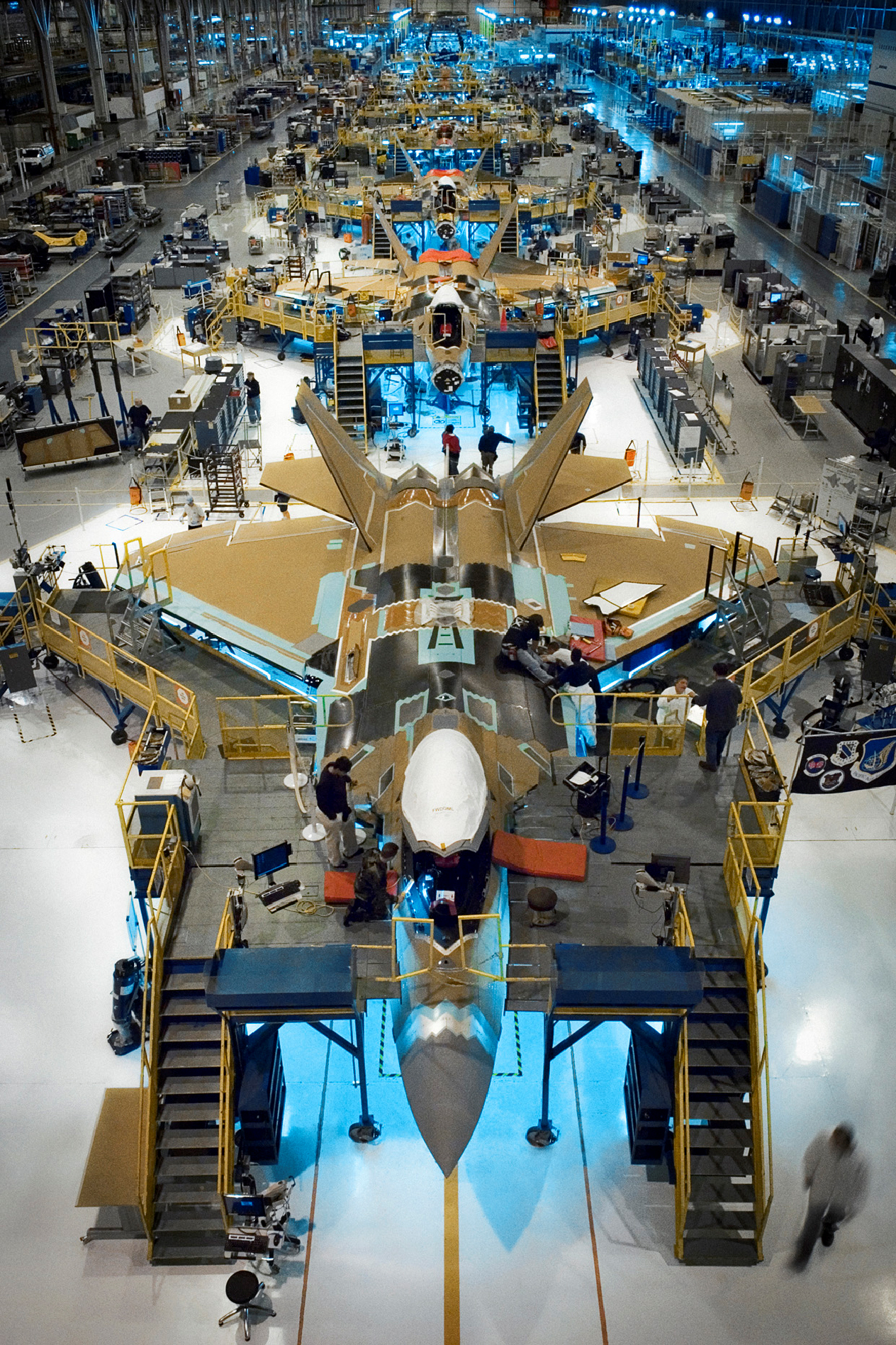 F-22 production line