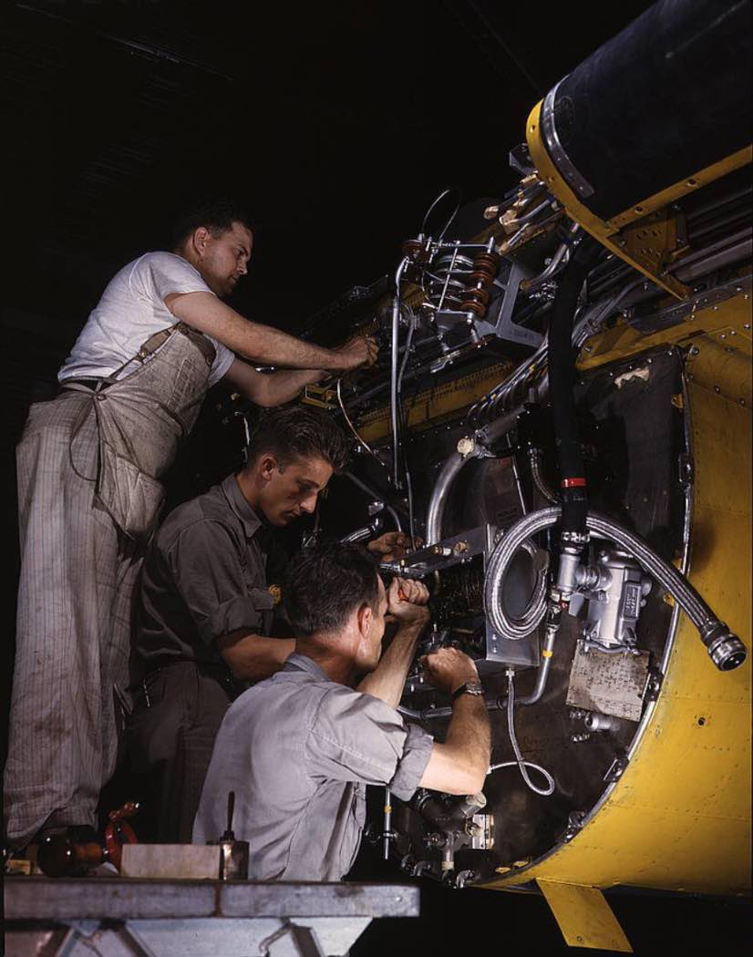 working on B-25
