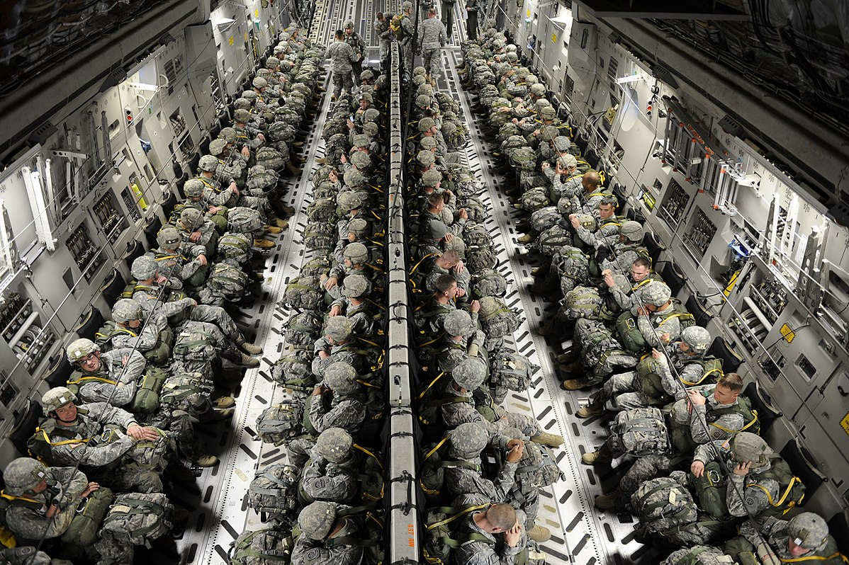 C-17 troops