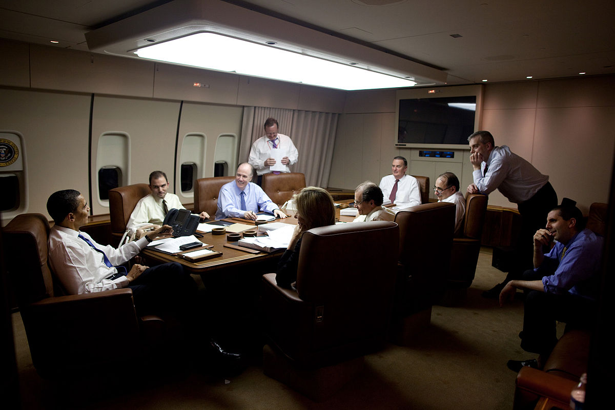 Barack Obama in situation room on Air Force One