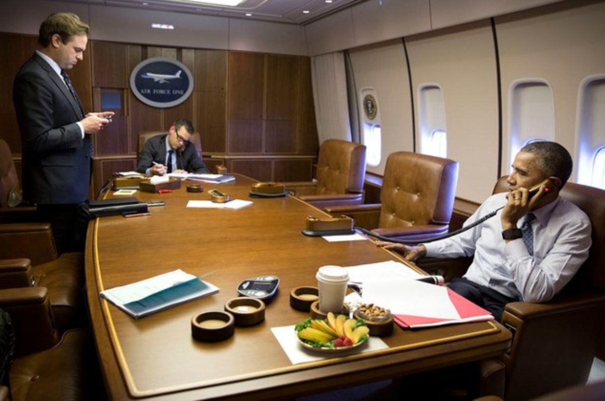 Air Force One facts, staff room