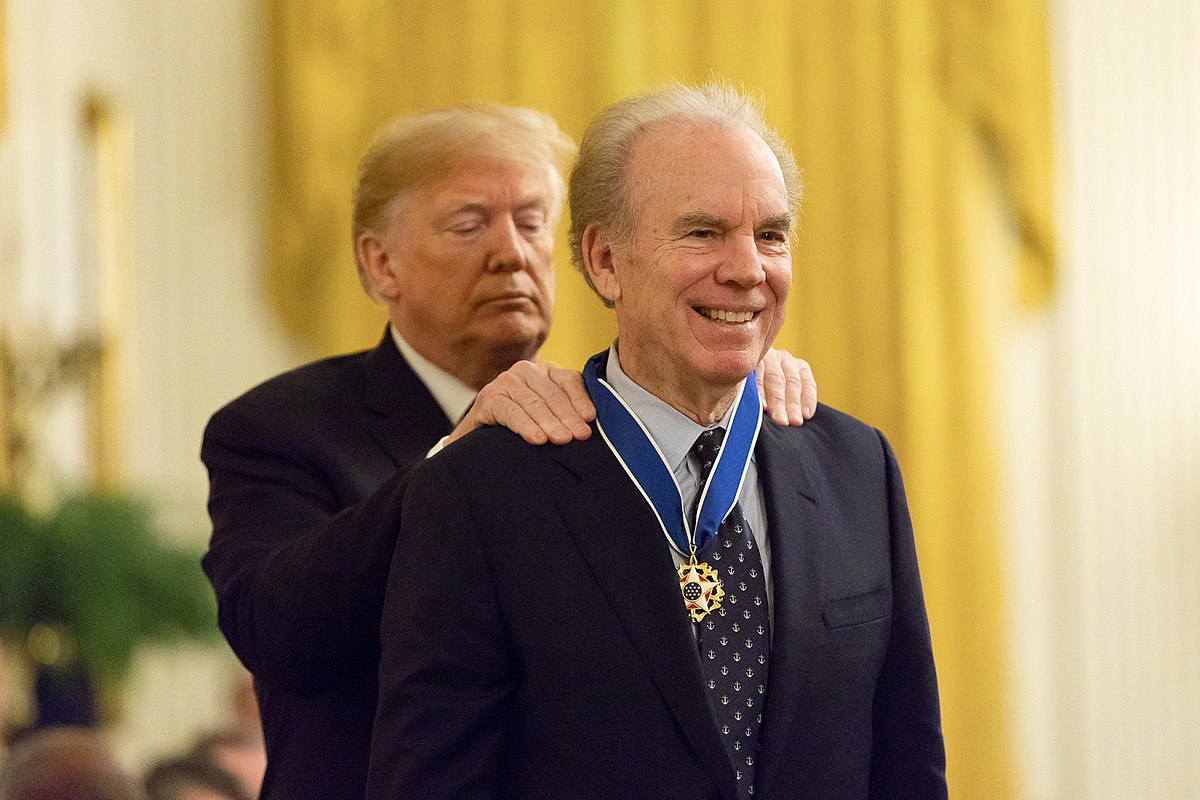 President Donald Trump and Roger Staubach
