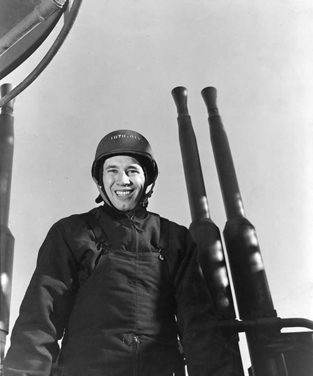 Bob Feller in the Navy, one of the most famous veterans