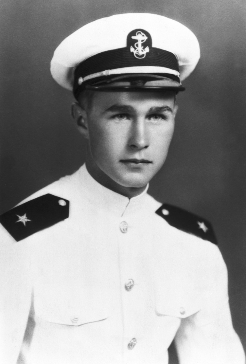 George H.W. Bush, famous veterans