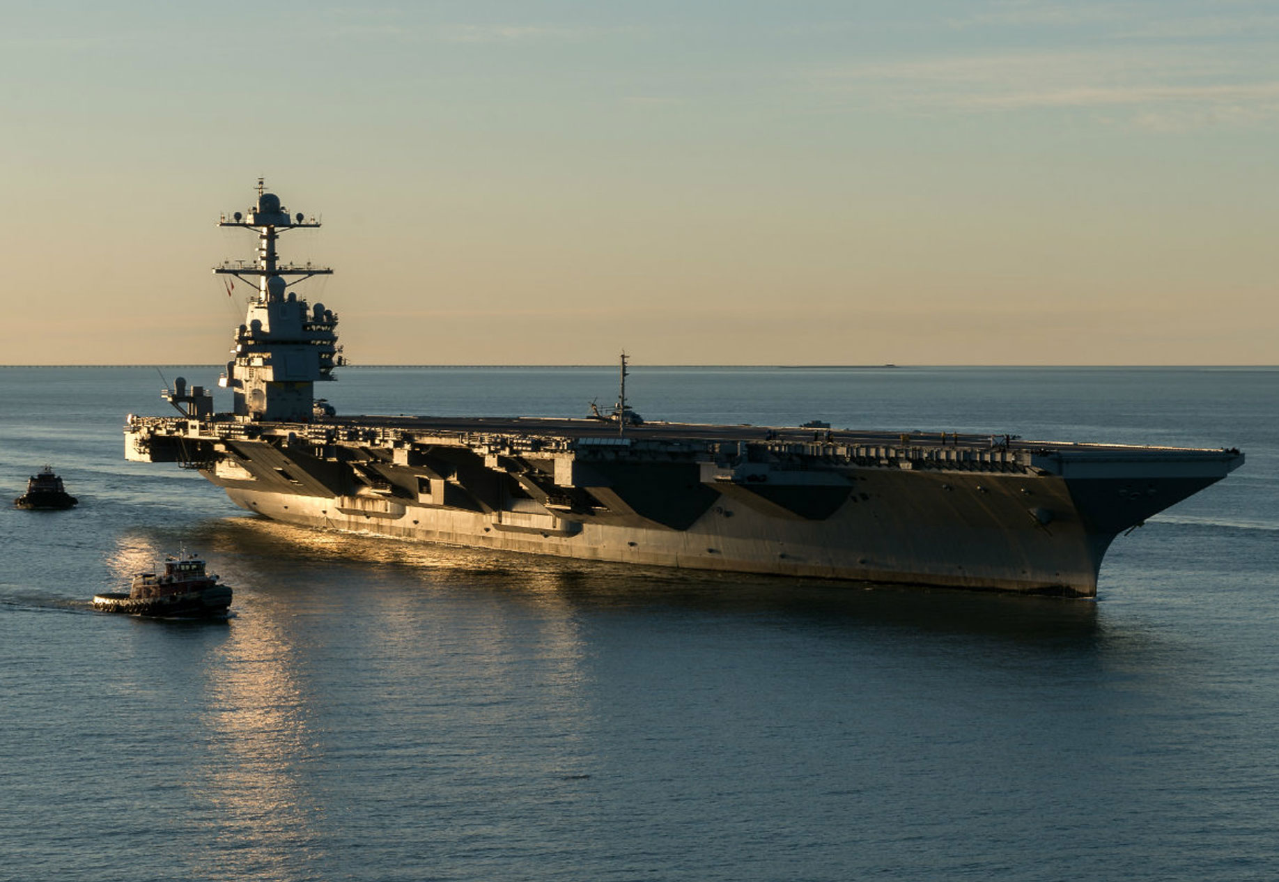 Powerful Images Of The Gerald R  Ford Aircraft Carrier