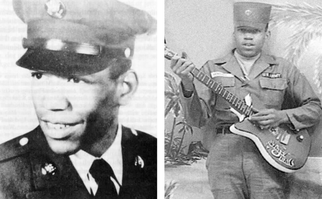 Jimi Hendrix, one of the most famous veterans