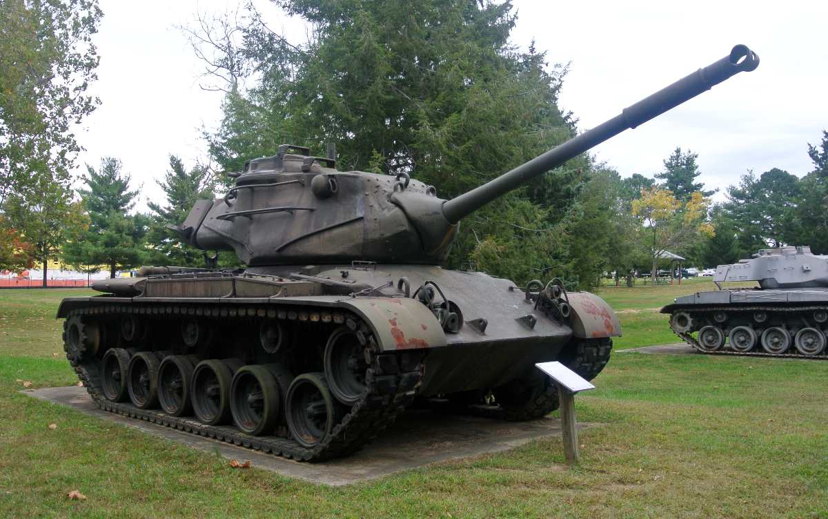 Patton M47 Medium Battle Tank on display at Fort Meade, Maryland.