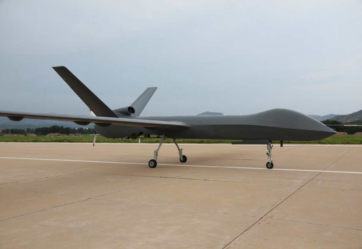 China's CASC CH(Cai Hong)-5 / Rainbow 5 unmanned aerial vehicle completed its trial flight in Hebei Province