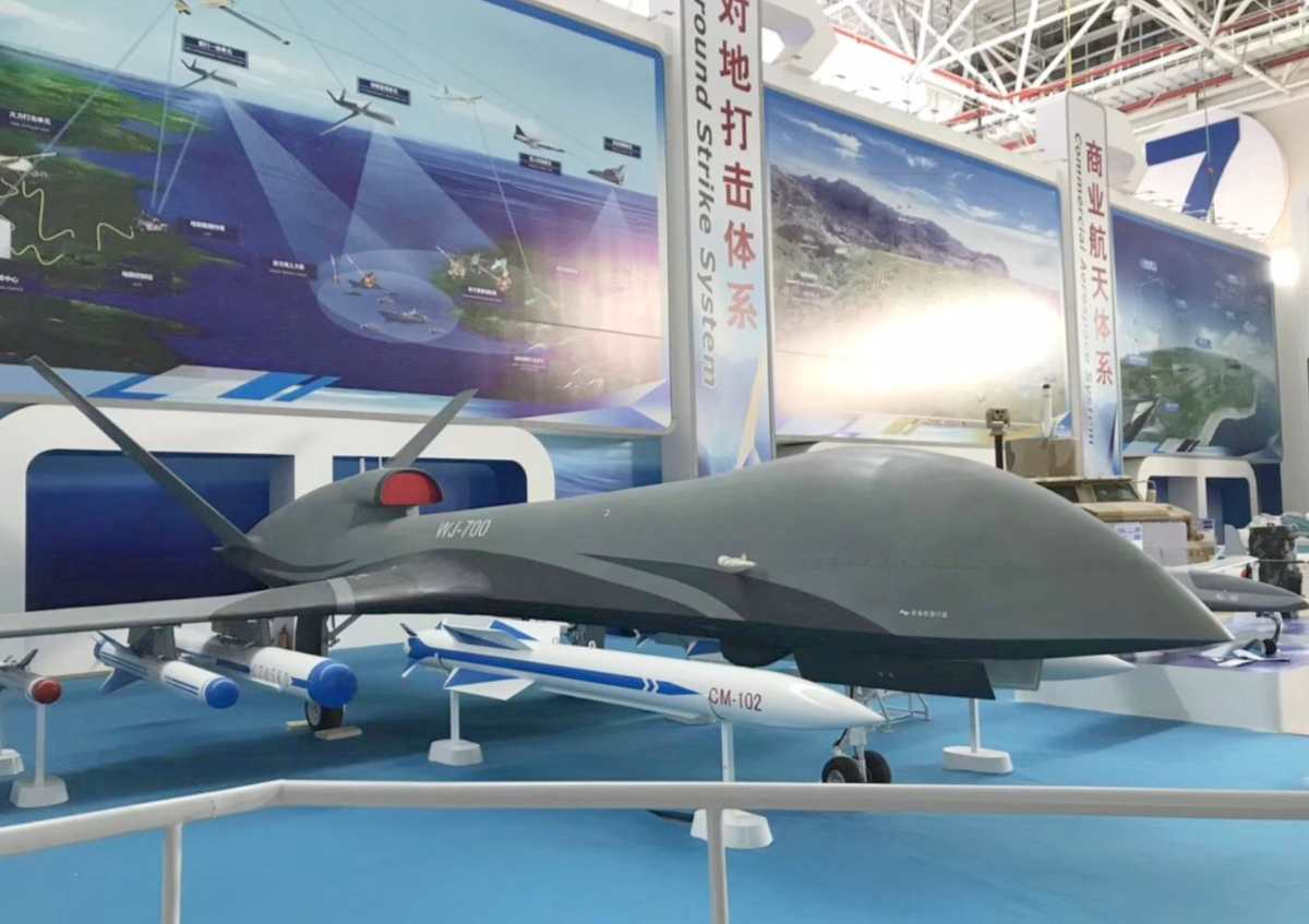 CASIC WJ-700 at a recent airshow gallery in China.