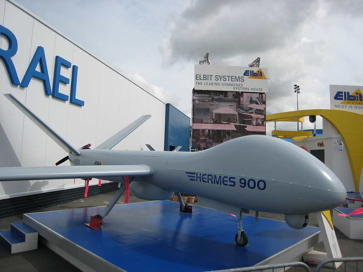 Elbit Systems Hermes 900 at the 2007 Paris Airshow.