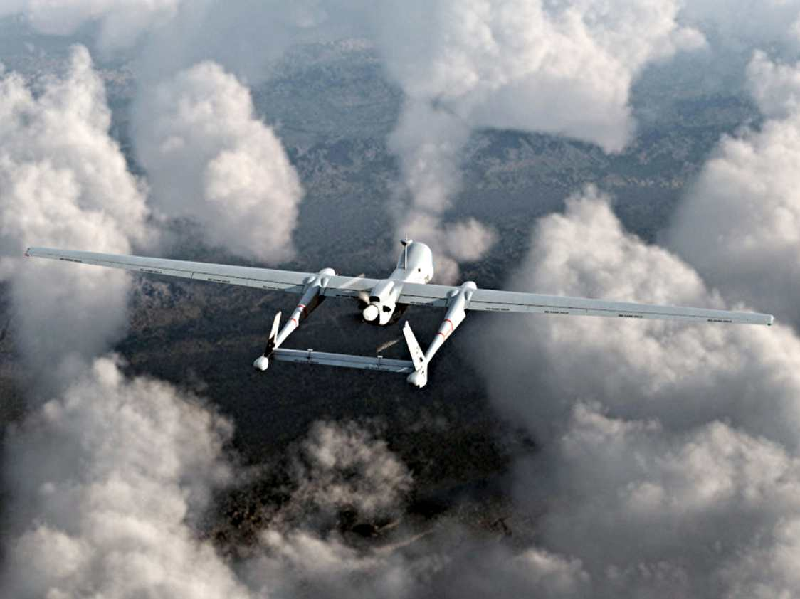 Israel Aerospace Industries designed this UAV - its first flight was in 2004.