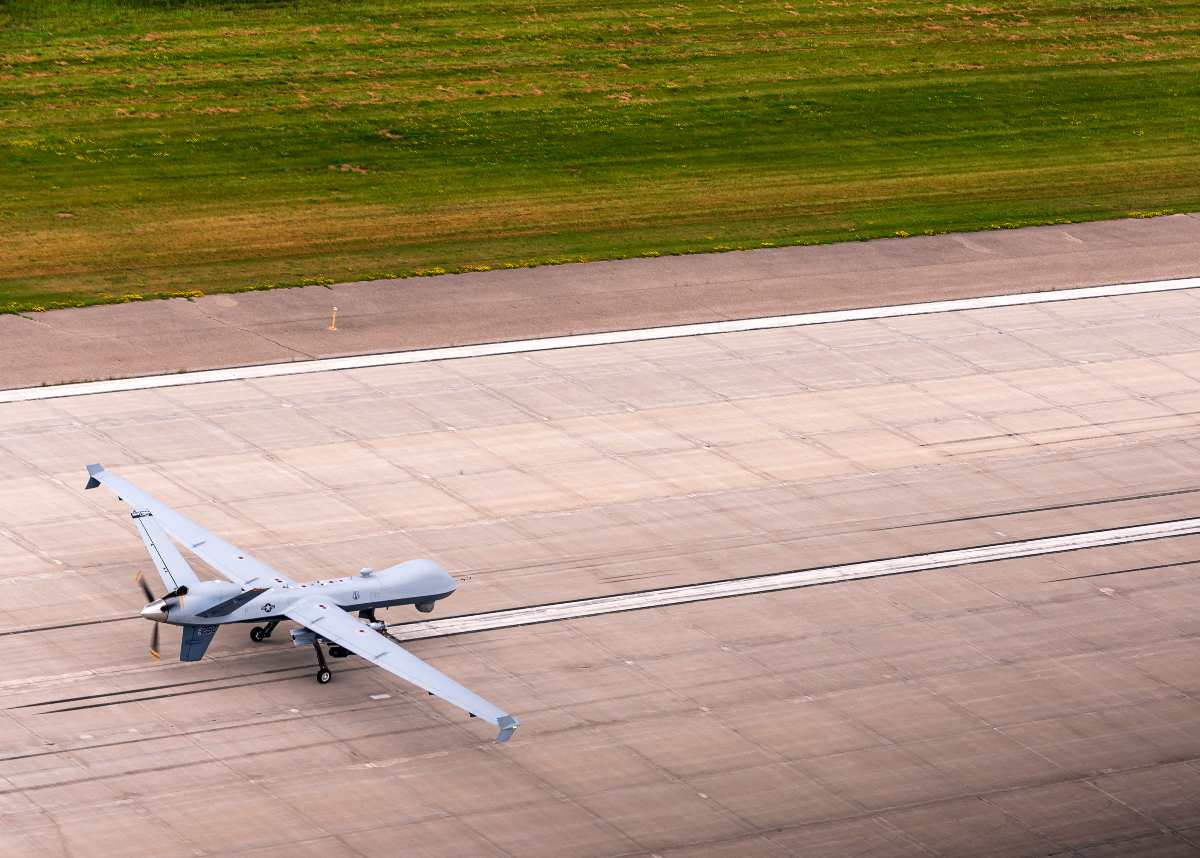 MQ-9 Reaper ands after a training sortie during Northern Strike 19
