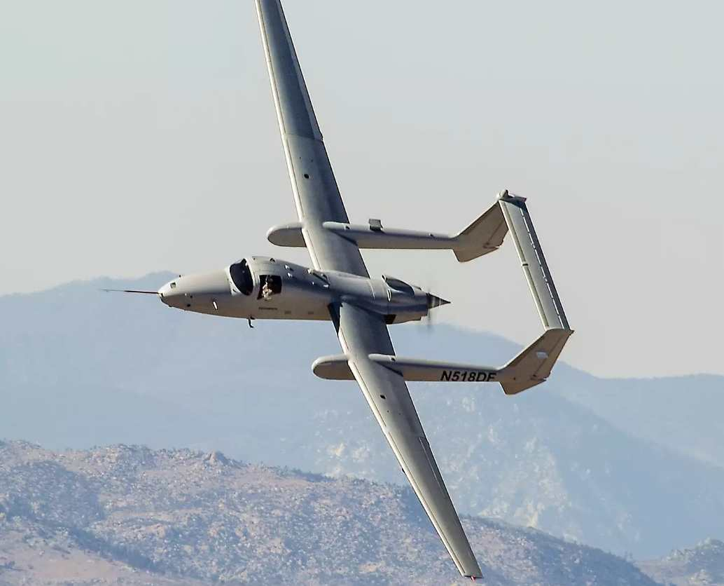 Northrop Grumman Firebird is a rarity among the aircrafts on this list due to its OPV capabilities.