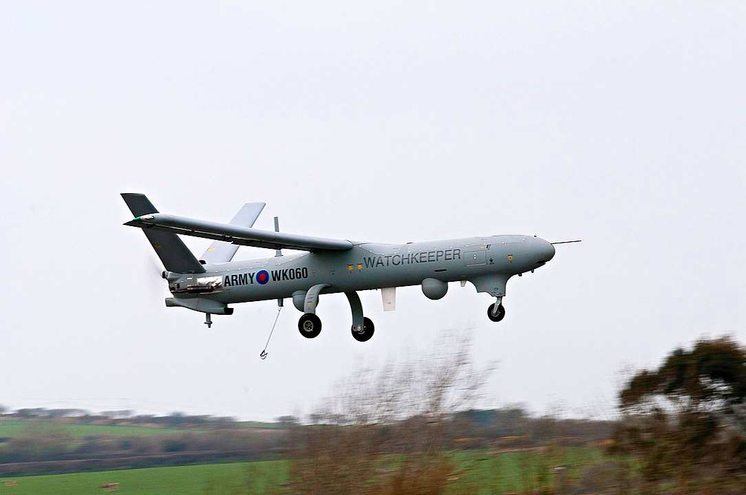 Thales Watchkeeper WK450 makes it's first flight in the UK.