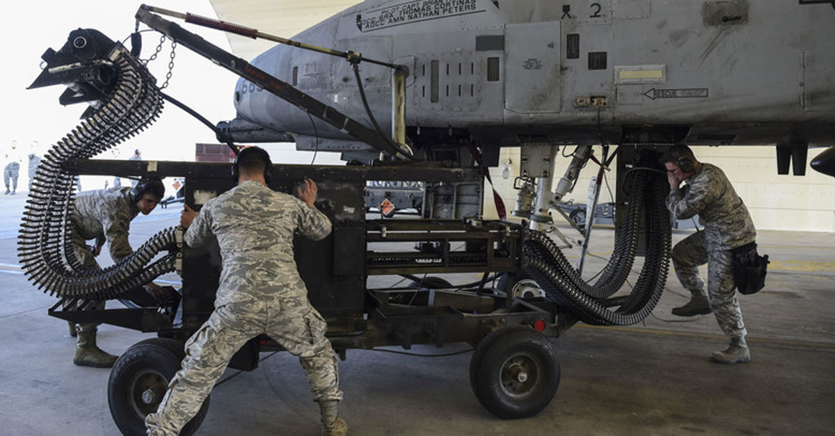 51st Maintenance Group crew prepare to load ammunition into an A-10 Osan Air Base, Republic of Korea