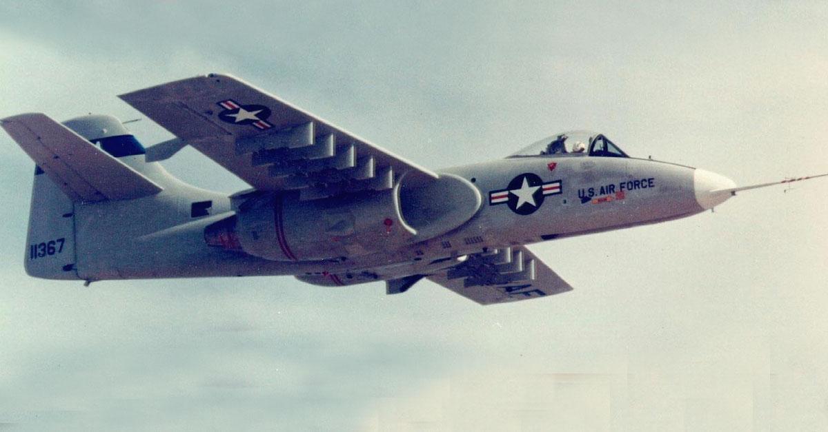 Northrop YA-9 prototype Flight