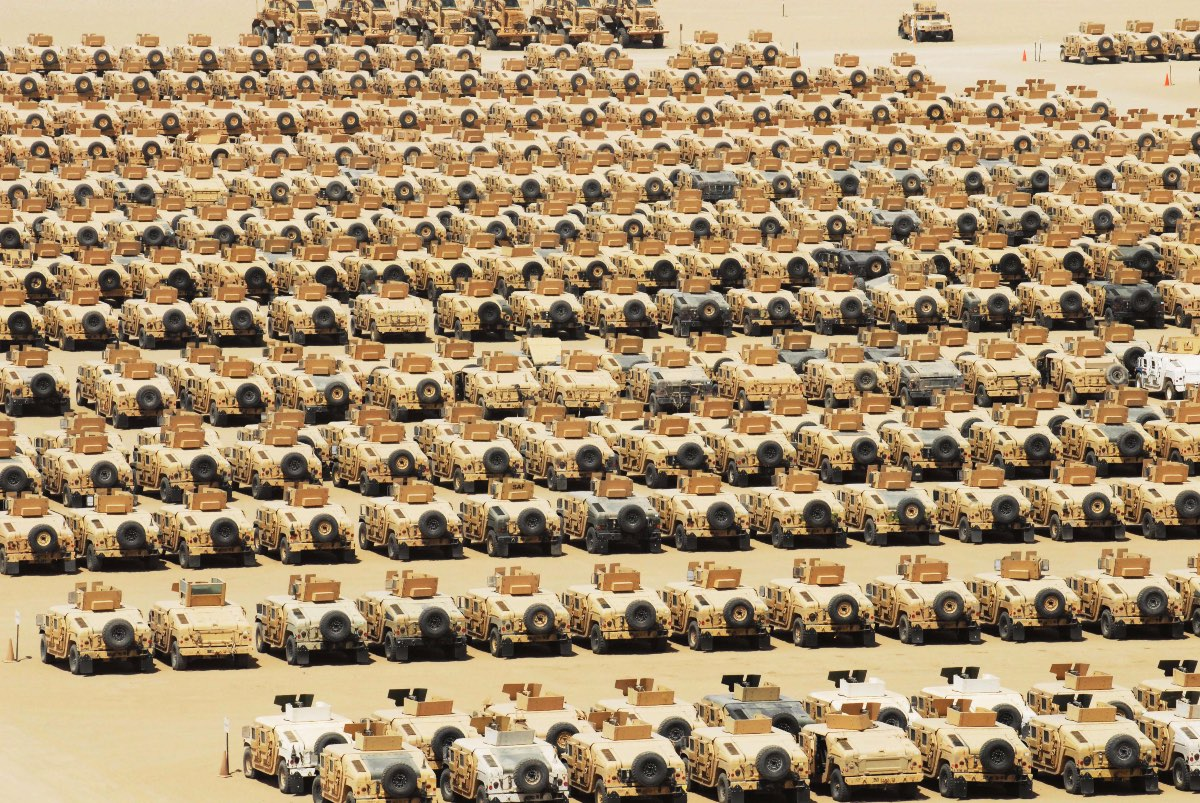 Over 100 Humvees in one place