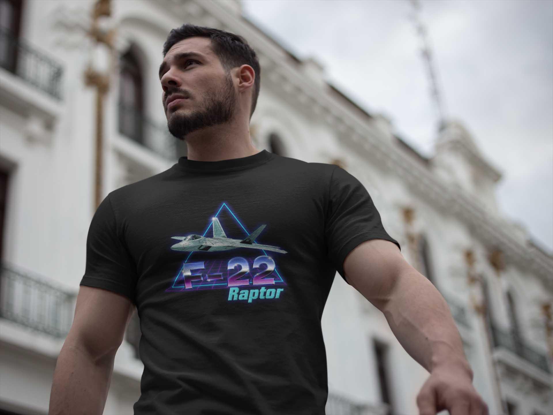 retro f-22 raptor t-shirt